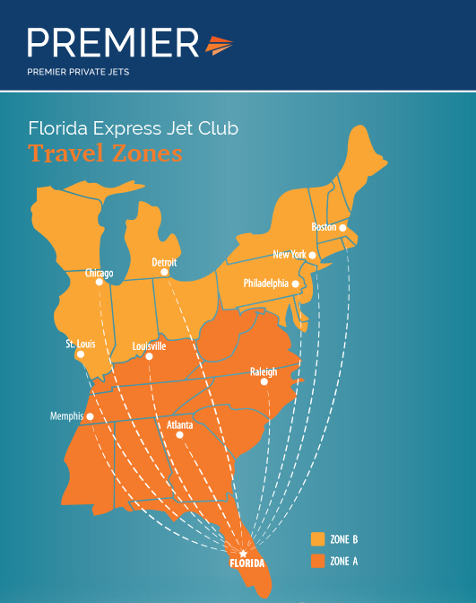 Florida Express Jet Club map